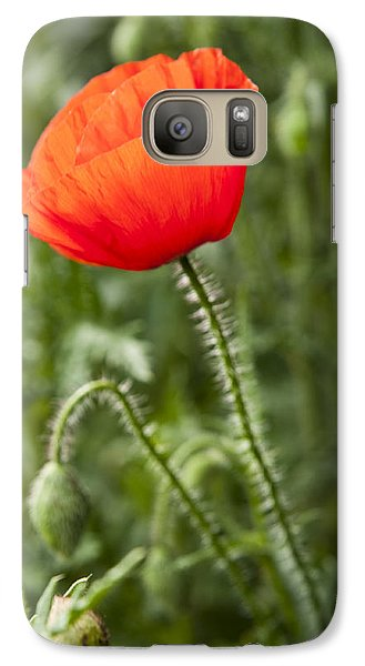 Galaxy Case featuring the photograph Red Poppy by David Isaacson