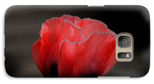 Galaxy Case featuring the photograph Red Poppy Flower by Nicola Fiscarelli
