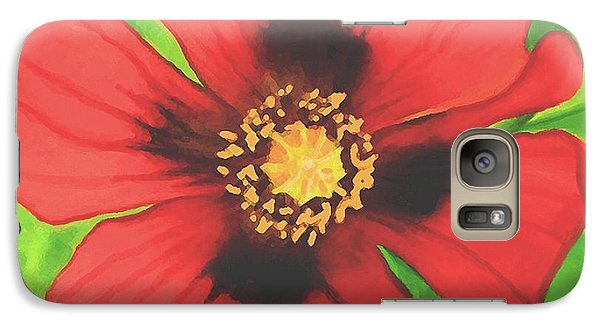 Galaxy Case featuring the painting Red Poppy by Sophia Schmierer