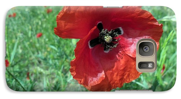Galaxy Case featuring the photograph Red Poppy by Vesna Martinjak