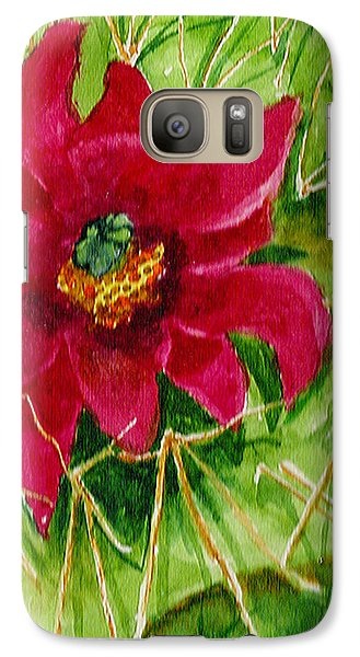 Galaxy Case featuring the painting Red Prickly Pear by Eric Samuelson