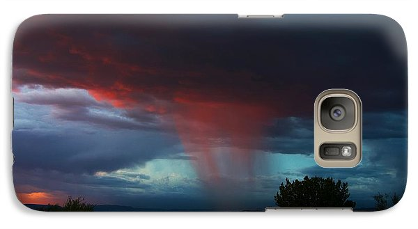 Galaxy Case featuring the photograph Red Rain by Ron Chilston