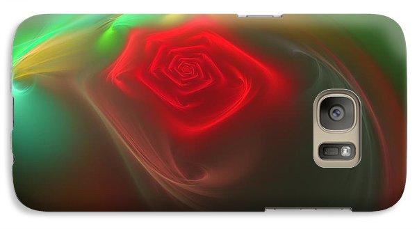 Galaxy Case featuring the digital art Red Red Rose by Svetlana Nikolova