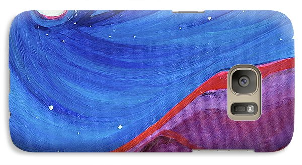 Galaxy Case featuring the painting Red Ridge By Jrr by First Star Art
