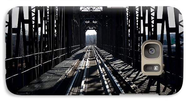 Galaxy Case featuring the photograph Red River Rail Road Crossing by Diana Mary Sharpton