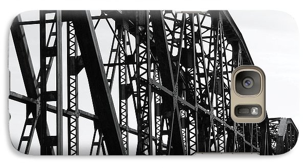 Galaxy Case featuring the photograph Red River Train Bridge #4 by Robert ONeil