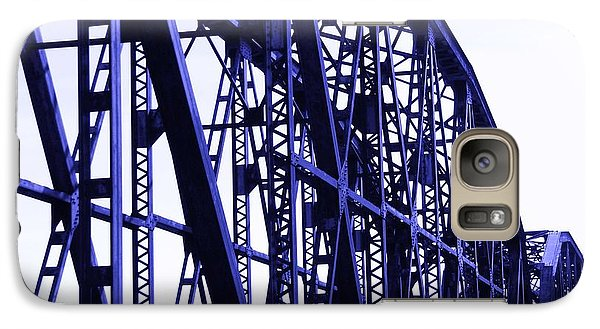 Galaxy Case featuring the photograph Red River Train Bridge #5 by Robert ONeil