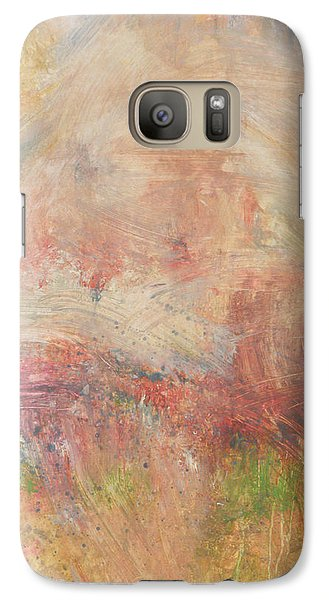 Galaxy Case featuring the painting Red Road In Sunlight by John Fish