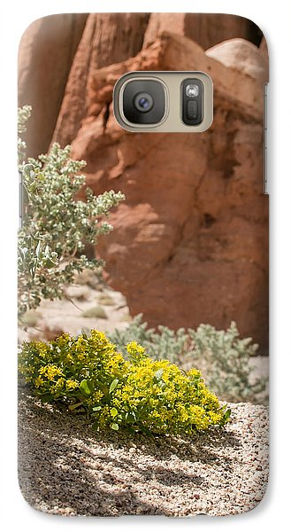 Galaxy Case featuring the photograph Red Rock Blooming by Jan Davies