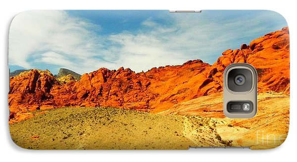 Galaxy Case featuring the painting Red Rock Canyon - Las Vegas by Shelia Kempf