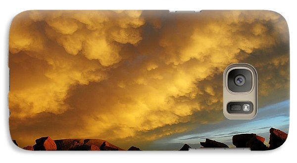 Galaxy Case featuring the photograph Red Rock Coulee Sunset by Vivian Christopher