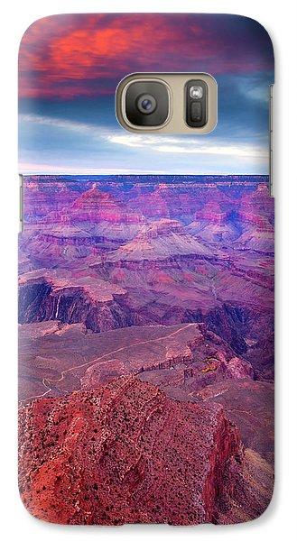 Red Rock Dusk Galaxy Case by Mike  Dawson