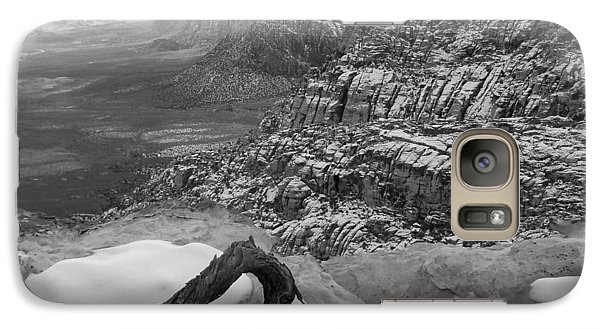 Galaxy Case featuring the photograph Red Rock Winter by Alan Socolik