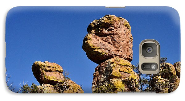Galaxy Case featuring the photograph Red Rocks In The Chiracahua Mountains by Diane Lent