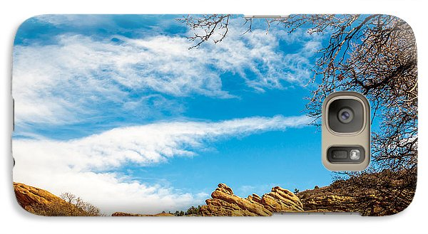 Galaxy Case featuring the photograph Red Rocks View 001 by Todd Soderstrom