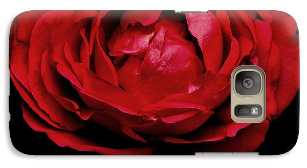 Galaxy Case featuring the photograph Red Rose by Charlotte Schafer