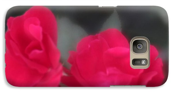 Galaxy Case featuring the photograph Red Rose Harmony by Mary Lou Chmura