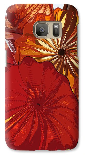 Galaxy Case featuring the digital art Red Rose by Kirt Tisdale