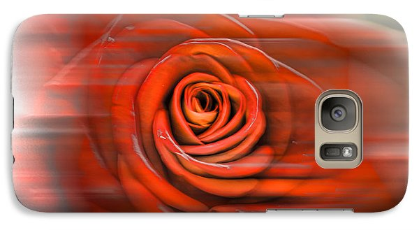 Galaxy Case featuring the photograph Red Rose by Leif Sohlman