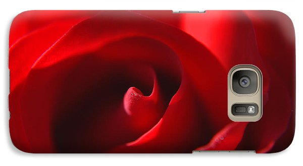 Galaxy Case featuring the photograph Red Rose by Tikvah's Hope