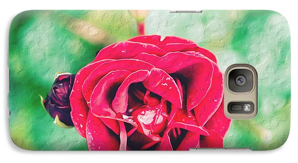 Galaxy Case featuring the photograph Red Rose by Yew Kwang