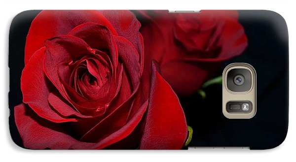 Galaxy Case featuring the photograph Red Roses For A Blue Lady by Luther Fine Art