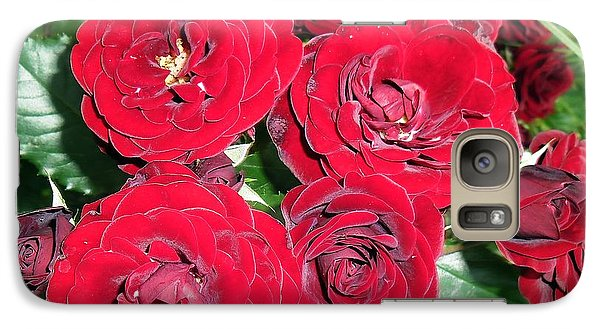 Galaxy Case featuring the photograph Red Roses by Vesna Martinjak