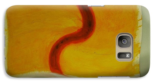 Galaxy Case featuring the digital art Red S On Yellow by Phoenix De Vries
