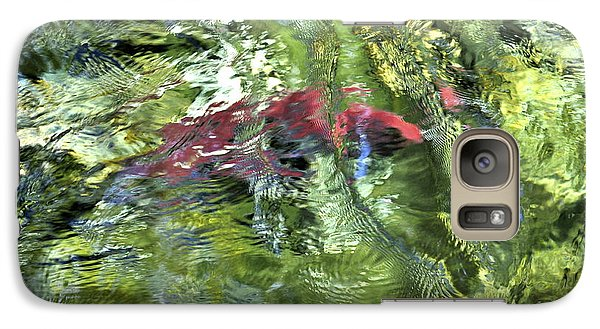 Galaxy Case featuring the photograph Red Salmon In Steep Creek by Cathy Mahnke