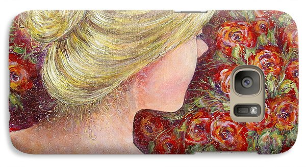 Galaxy Case featuring the painting Red Scented Roses by Natalie Holland