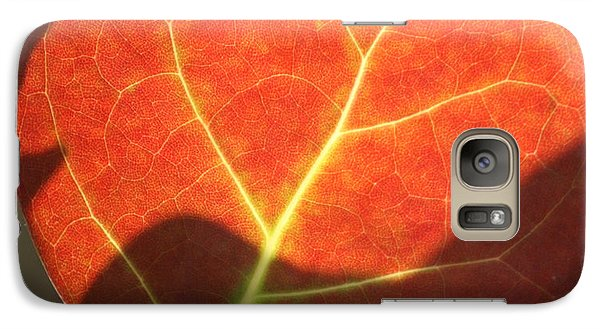 Galaxy Case featuring the photograph Red Sea Grape Leaf by Peg Toliver
