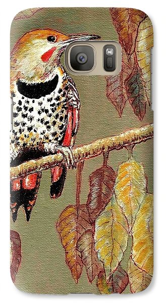Galaxy Case featuring the painting Red Shafted Flicker by VLee Watson