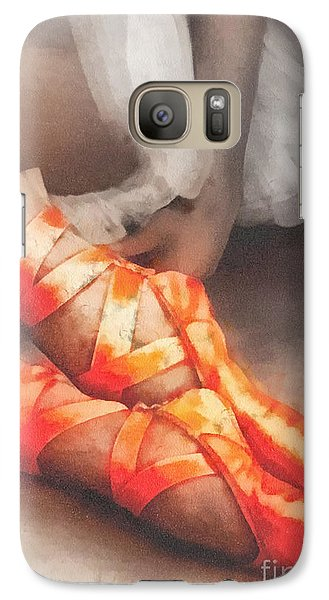 Mo Galaxy S7 Case - Red Shoes by Mo T
