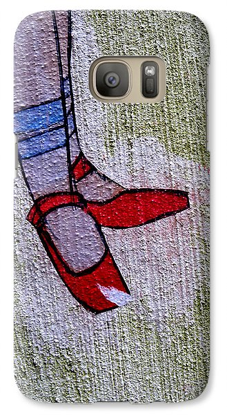 Galaxy Case featuring the photograph Red Shoes by Robert Riordan