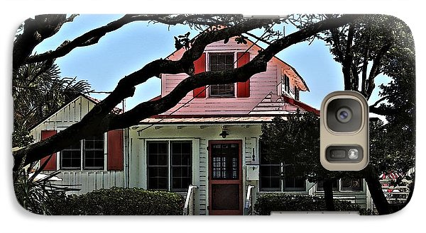 Galaxy Case featuring the photograph Red Shutters Cottage by Laura Ragland