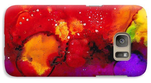 Galaxy Case featuring the painting Red Skies by Angela Treat Lyon