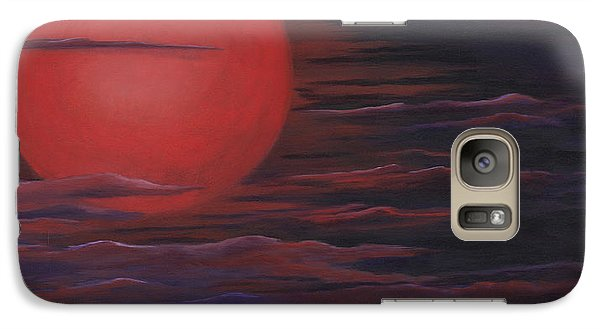 Galaxy Case featuring the painting Red Sky A Night by Michelle Joseph-Long