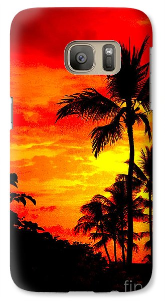 Galaxy Case featuring the photograph Red Sky At Night by David Lawson