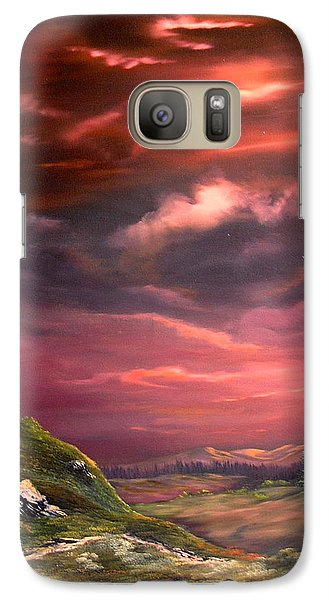Red Sky At Night Galaxy S7 Case by Jean Walker