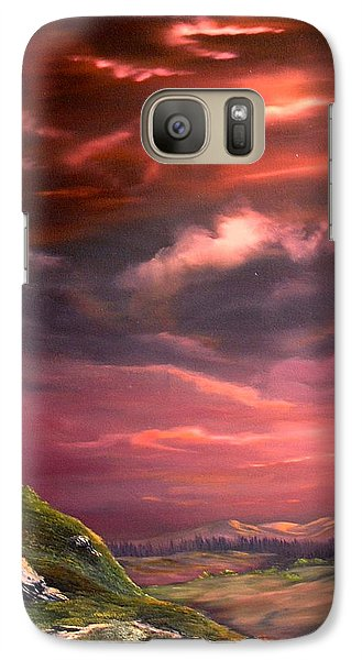 Red Sky At Night Galaxy Case by Jean Walker