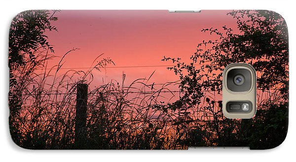 Galaxy Case featuring the photograph Red Sky At Night by Liz  Alderdice