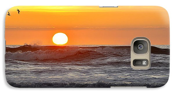 Galaxy Case featuring the photograph Red Sky At Night Sailors  Delight by AJ  Schibig