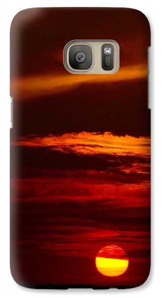 Galaxy Case featuring the photograph Red Sky At Night Vertical by Rod Seel