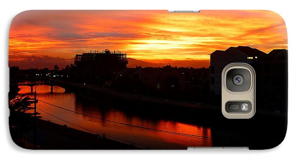 Galaxy Case featuring the photograph Red Sky by Kim Andelkovic