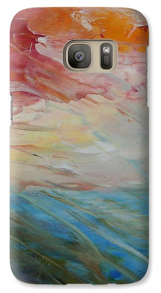 Galaxy Case featuring the painting Red Sky by Sandra Nardone