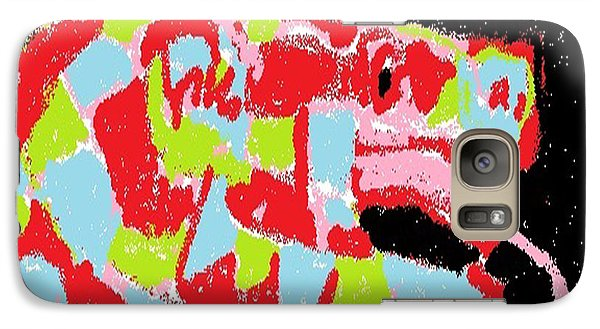 Galaxy Case featuring the digital art Red Snake Nebula by Don Koester