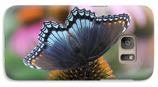 Galaxy Case featuring the photograph Red Spotted Admiral Butterfly by Yumi Johnson