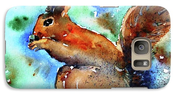 Galaxy Case featuring the painting Red Squirrel  by Trudi Doyle