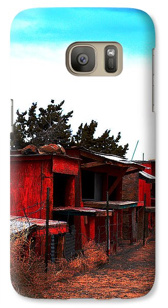 Galaxy Case featuring the photograph Red Stands by Maggy Marsh
