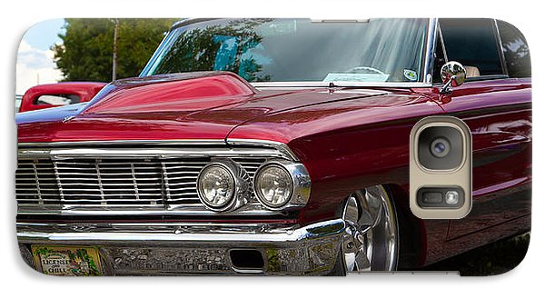 Galaxy Case featuring the photograph Red Street Car Rod by Mick Flynn